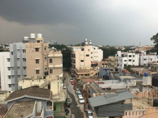 View from our apartment. The neighborhood was an interesting mixture of Catholic, Muslim and Hindu.
