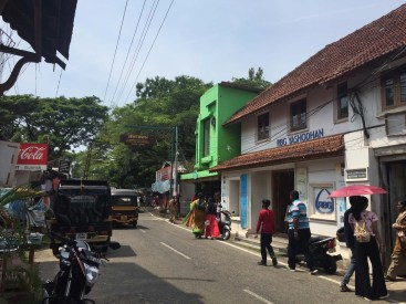 Jew Town in Fort Kochi, famous for beautiful synagogues and antique shopping avenues. It was settled by Jews possibly as early as the 12th century.