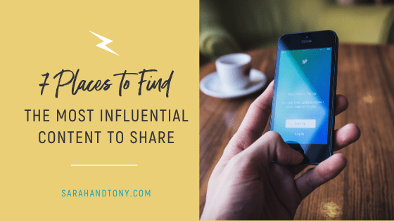 Where to Find the Most Influential Content to Share