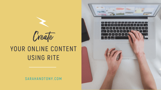 Create your Online Content using RITE