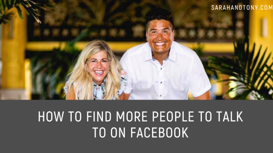 How to find more people to talk to on facebook