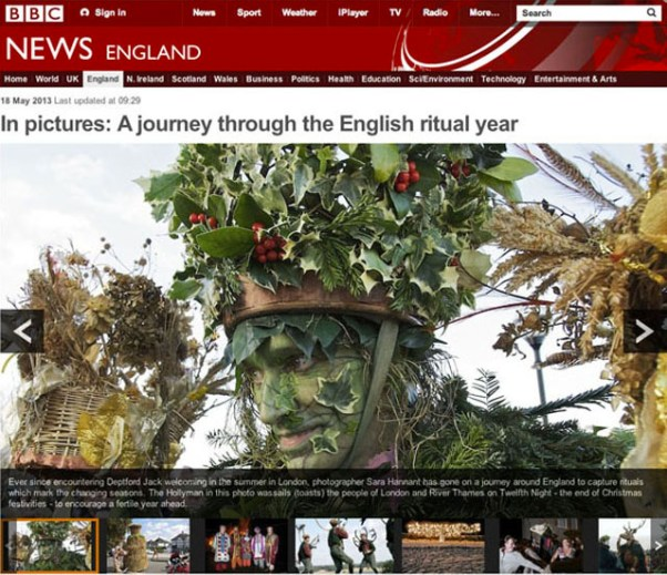 BBC NEWS In Pictures- A journey through the English ritual year