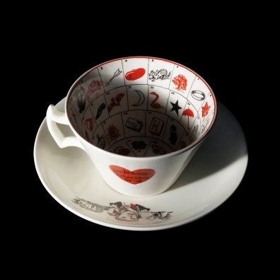 Romany Fortune Telling Cup and Saucer, Museum of Witchcraft and Magic