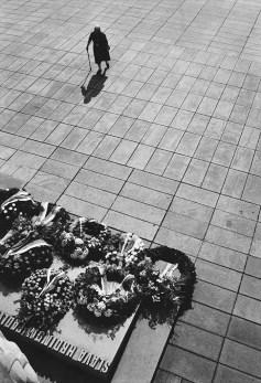Mourner, VE Day, National Monument, Prague.