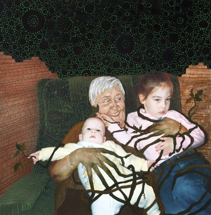 Family Tradition  - 2008 - 20 x 20 - Acrylic on Inkjet