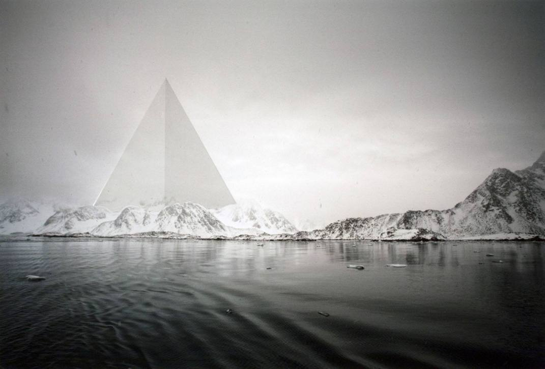 Triangle - 2011 - 16 x 24 - Chromogenic Print, Embossed and Screen Printed