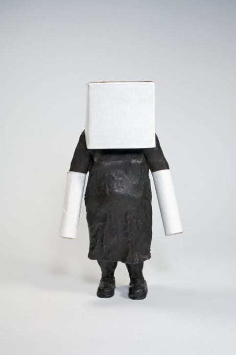 Black Out - 2008 - 9 x 5.5 x 2.5 - Bronze and Cardboard