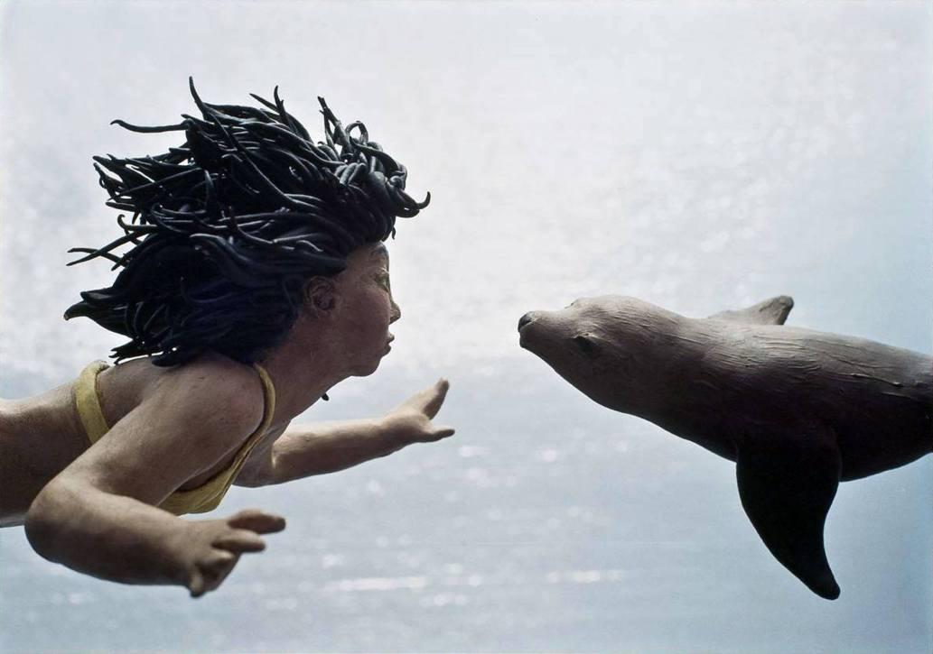 Girl with Sea Lion - 2006 - 16 x 20 - Chromogenic Print