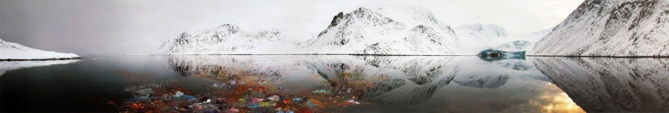 The Arctic - 2010 - 28 x 164.5 - Scratched Chromogenic Print, Acrylic Ink