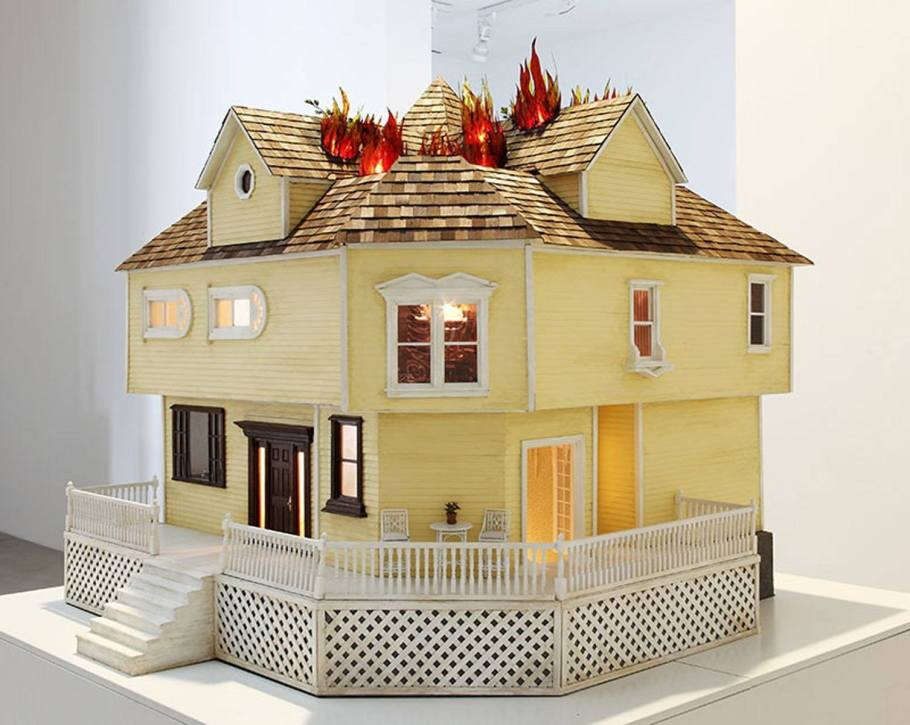 House on Fire - 2009 - Mixed Media