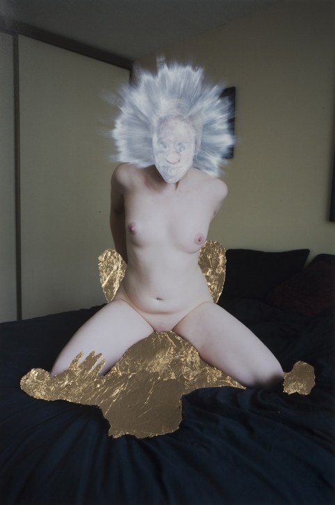 Monster - 2013 - 42 x 28, 24 x 16 - Chromogenic Print with Oil Paint and Gold Leaf