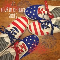 DIY Fourth of July Shoes