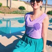 DIY Mermaid Shirt Using Freezer Paper Iron-on Stencils