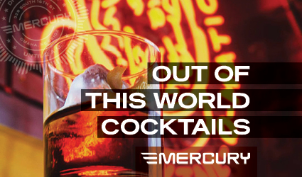 Mercury is a contemporary mid-century cocktail lounge, serving late-night food with an extensive selection of wine.