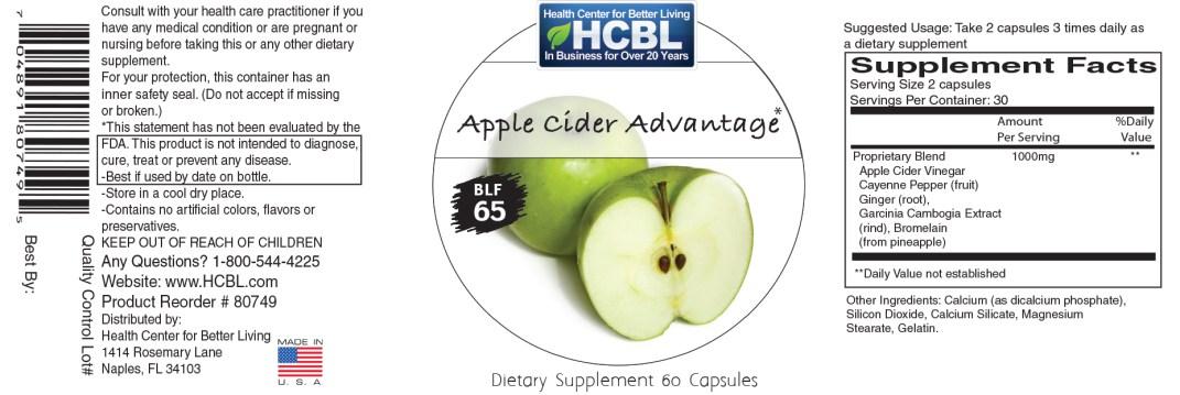 80749 Apple cider Advantage