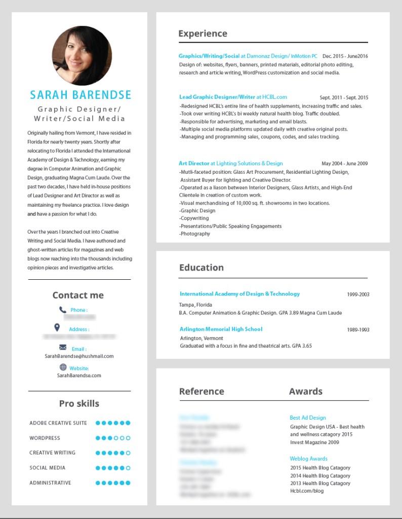 Sarah Barendse Resume