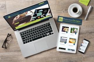 Damonaz Design social media and web banner