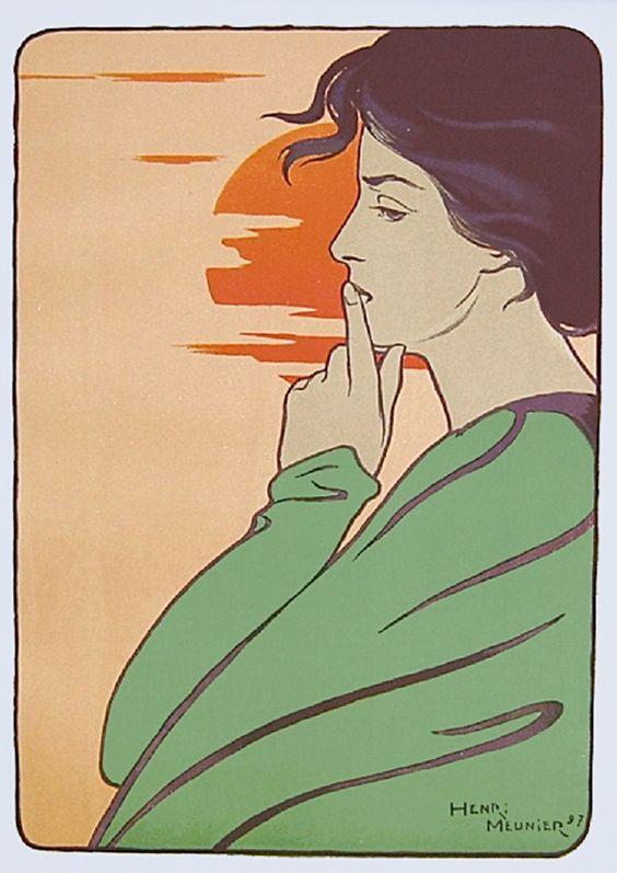 """L 'Heure Du Silence"". 1897."