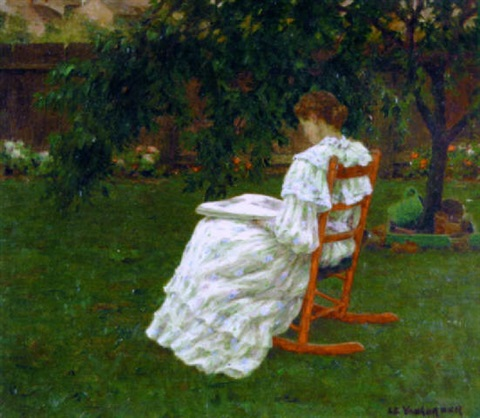 """Reading in the Garden"""