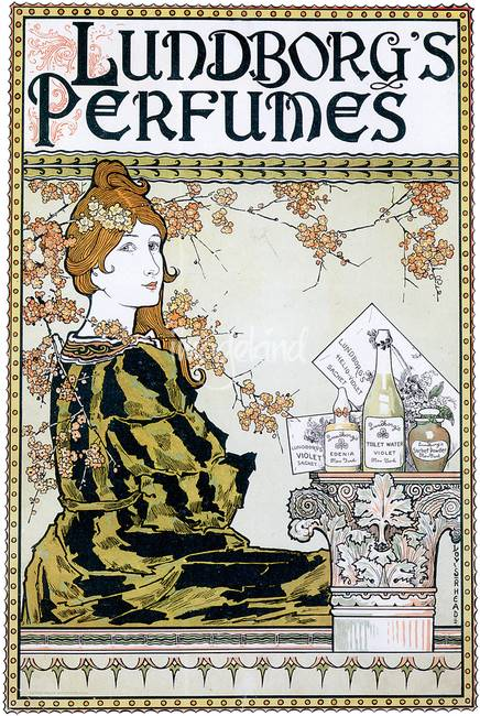Advertisement for Lundborg's Perfumes. Undated. Poster.