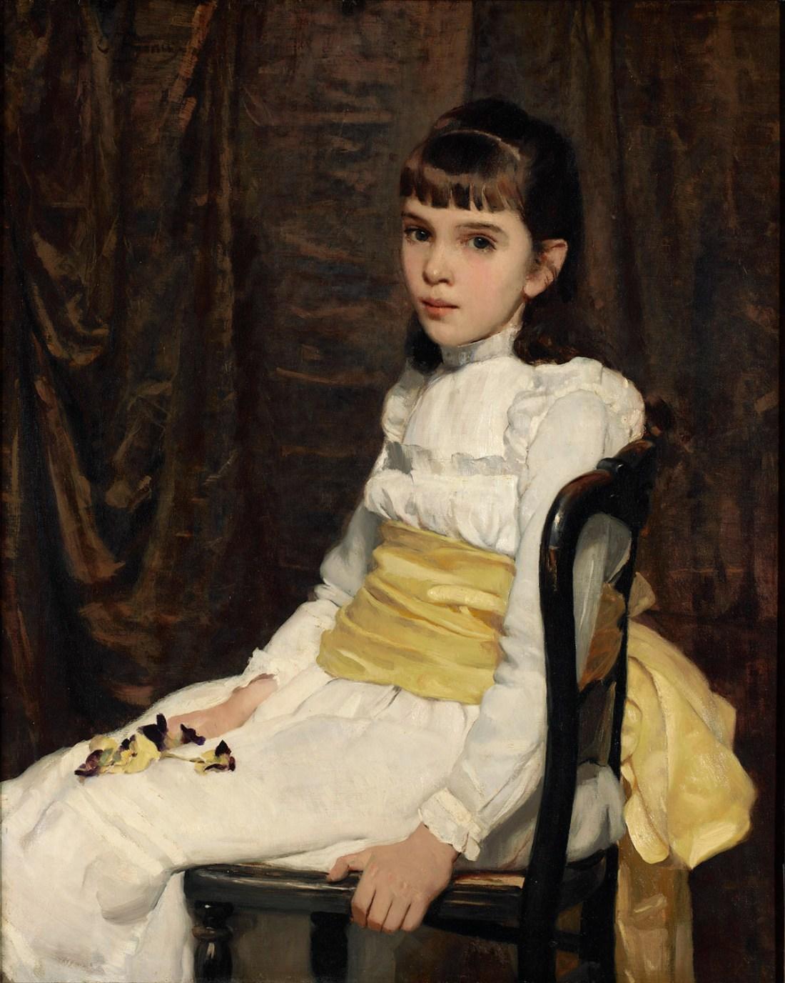 """""""A Little Girl"""". 1887."""