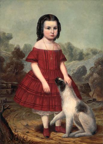 Portrait of Alice Lyons. ca. 1855. John Jacob Hegler, artist.