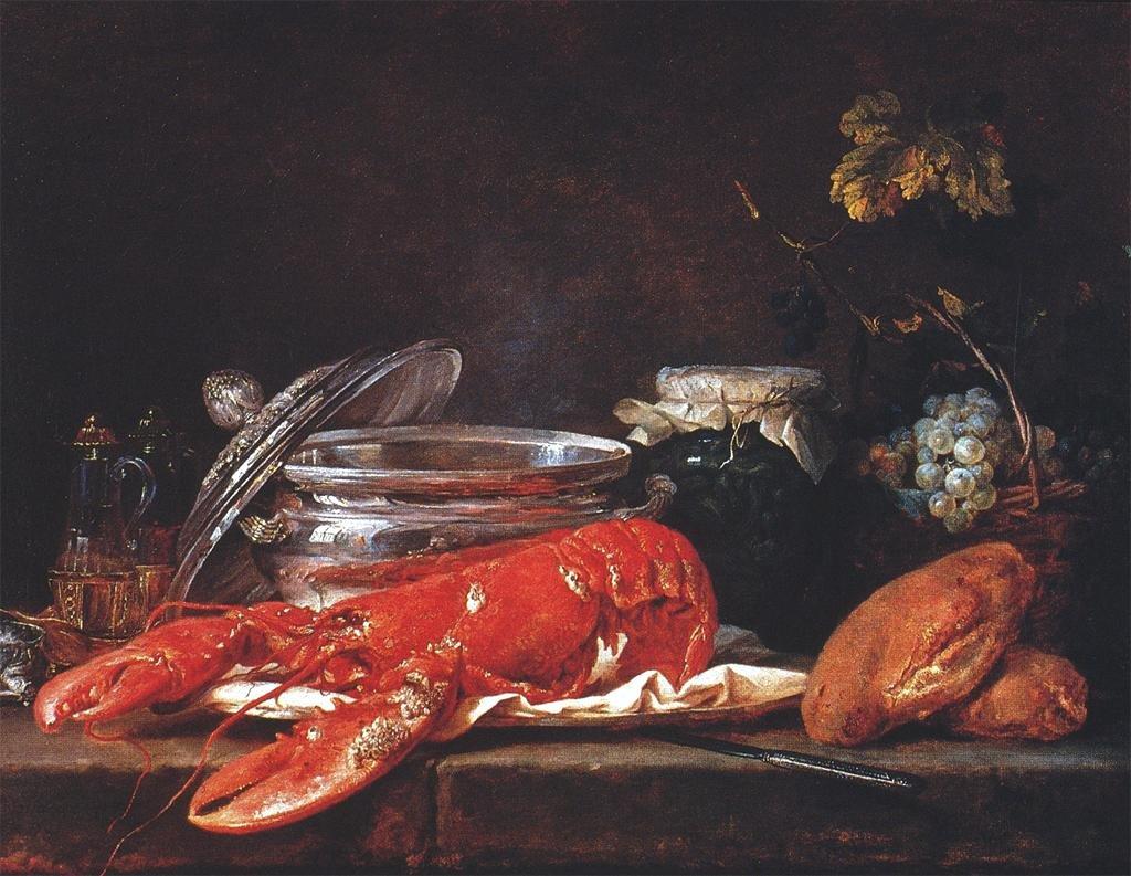 Still life with lobster. 1781.
