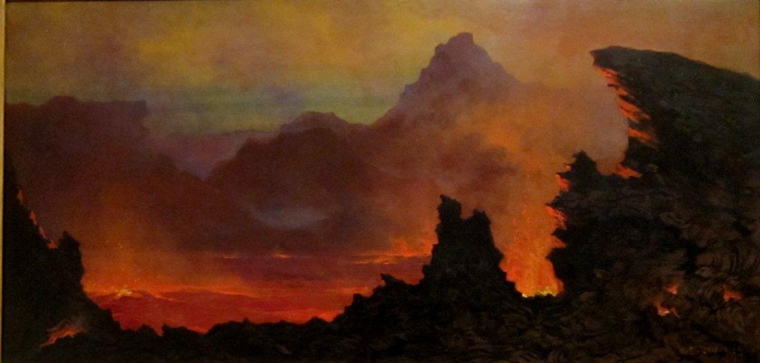 """Kīlauea Caldera, Sandwich Islands."" 1886."