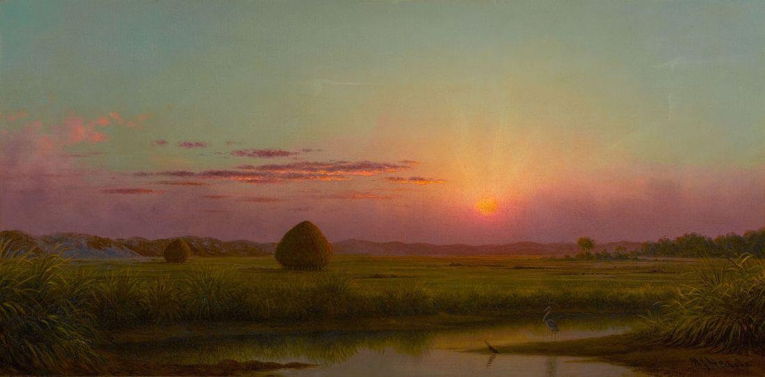 """Sunset over the Marsh."" ca. 1876-1882."
