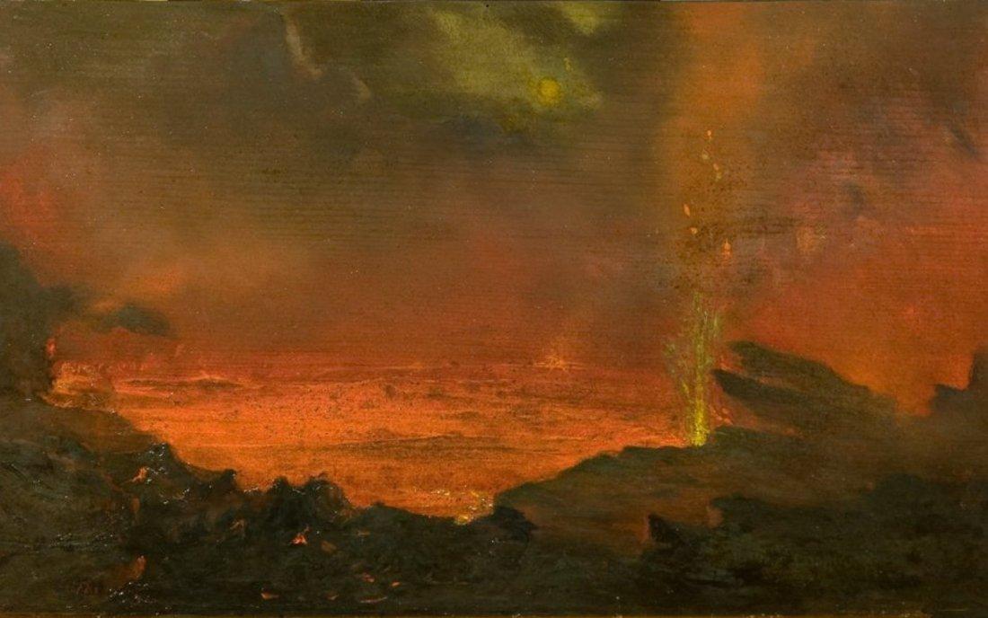"""""""Halemaumau, Lake of Fire."""" 1888."""