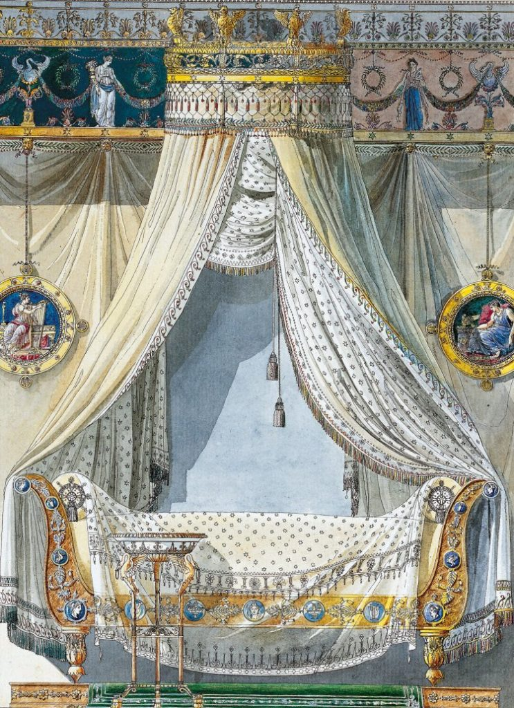 Canopy bed. Early 19th c.