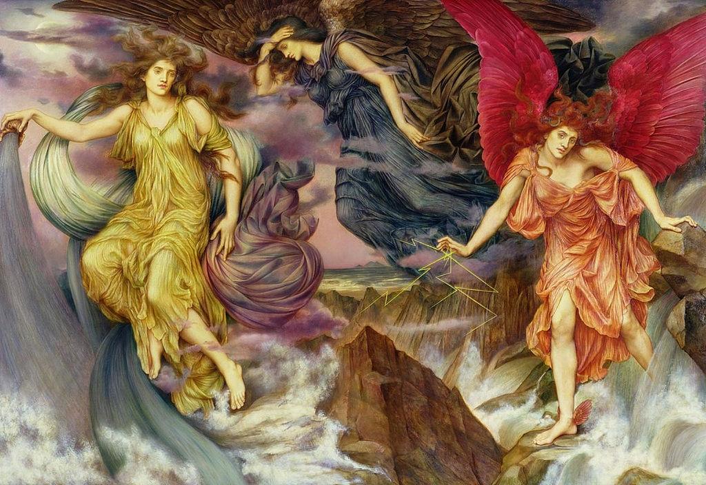 """The Storm Spirits."" ca. 1900."