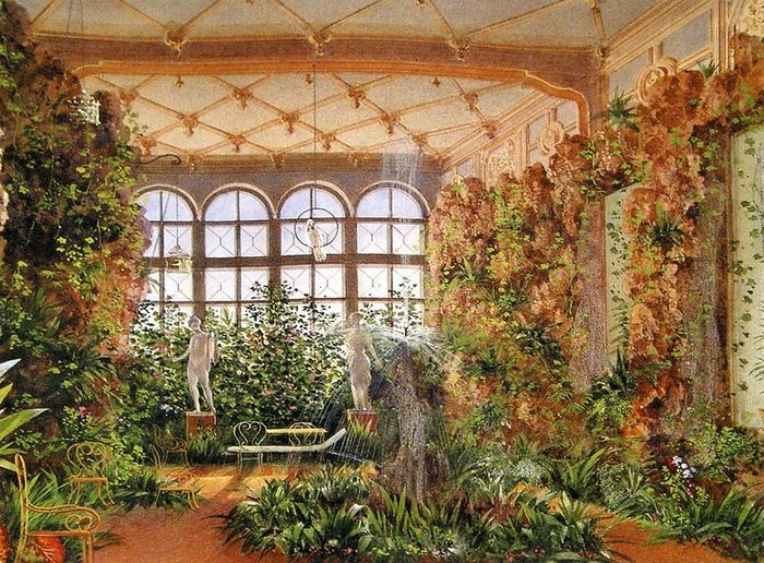 Winter Garden of the Yusupov Palace, Saint Petersburg. 1862.