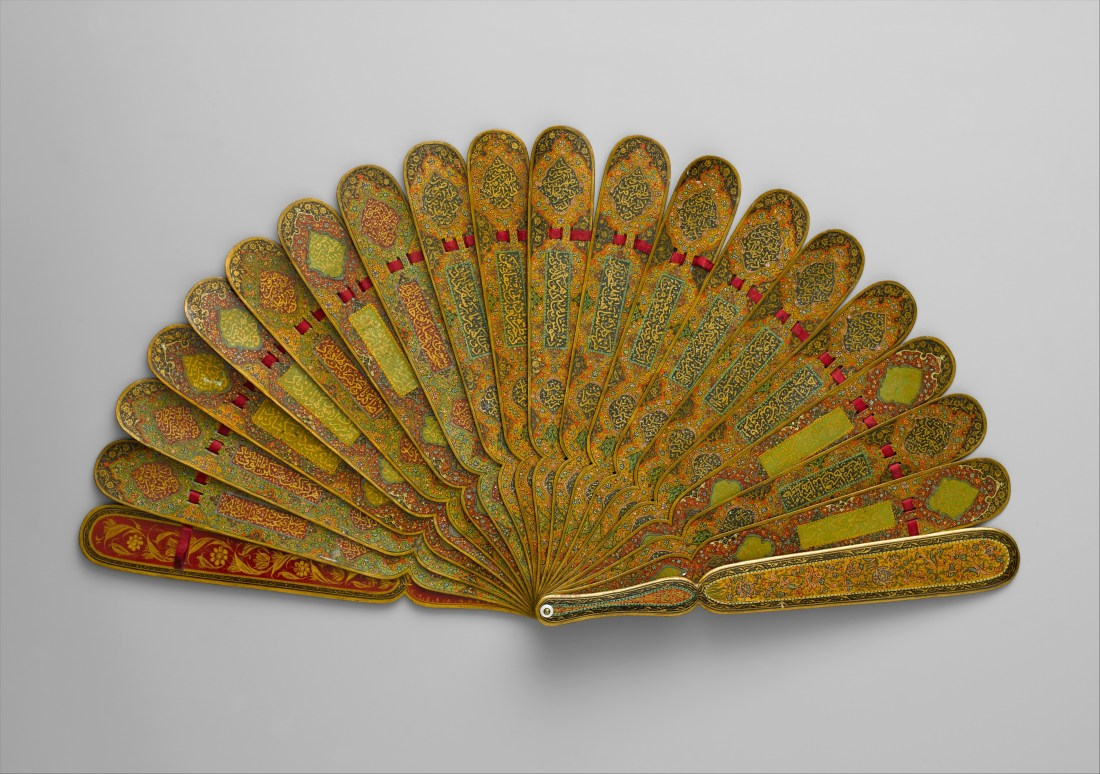 Fan with poetic verses. 1883-84. Tehran, Iran.