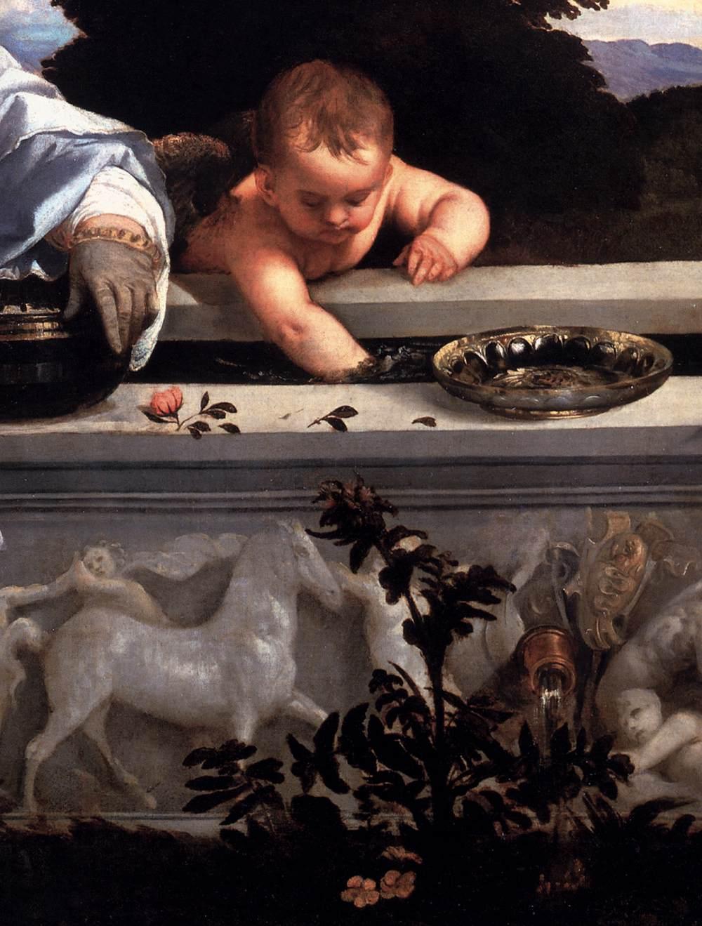 """Sacred Love and Profane Love"" (Cupid detail).  1514-15."
