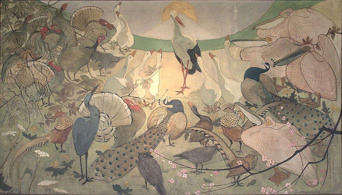 """""""The Return of the Stork."""" 1893."""