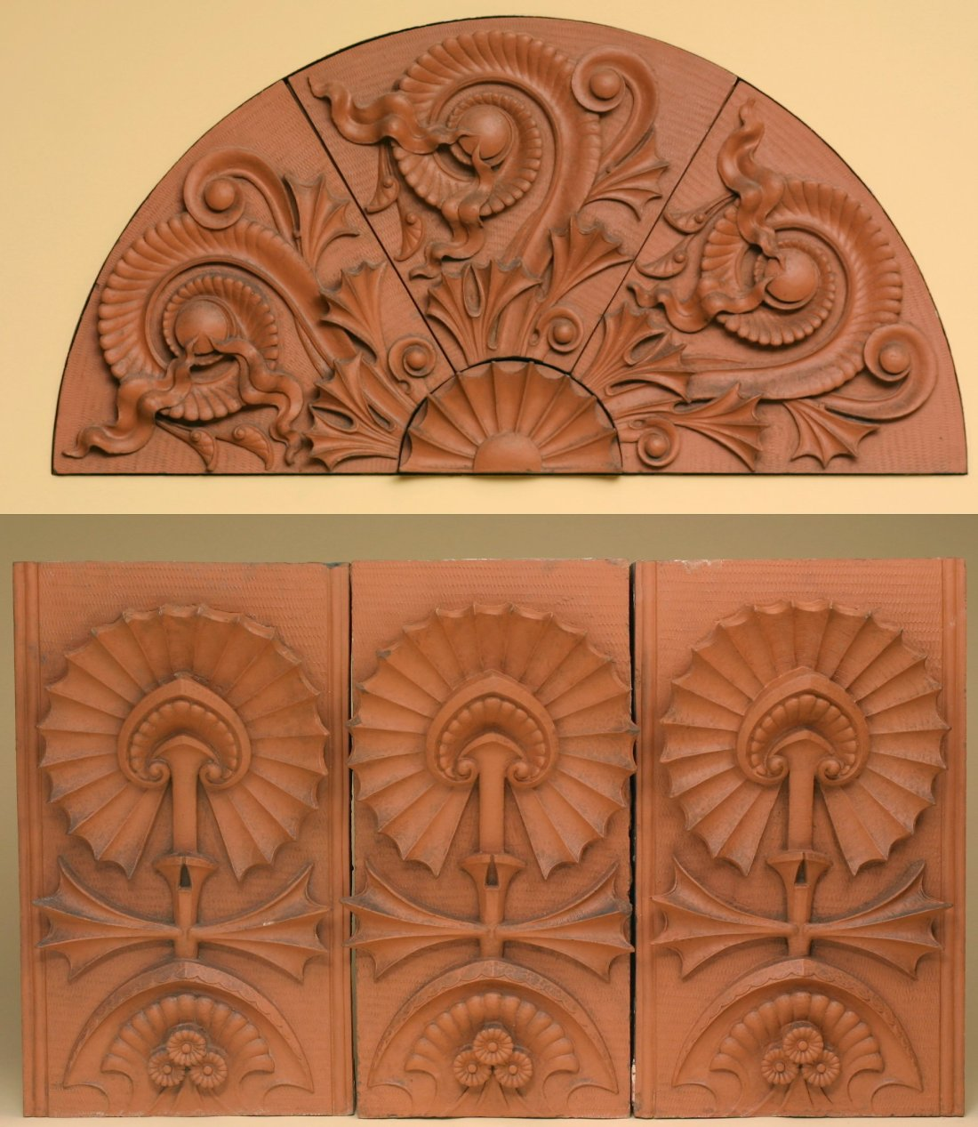 Lunette and decorative panel, one of twelve. 1884-1885.
