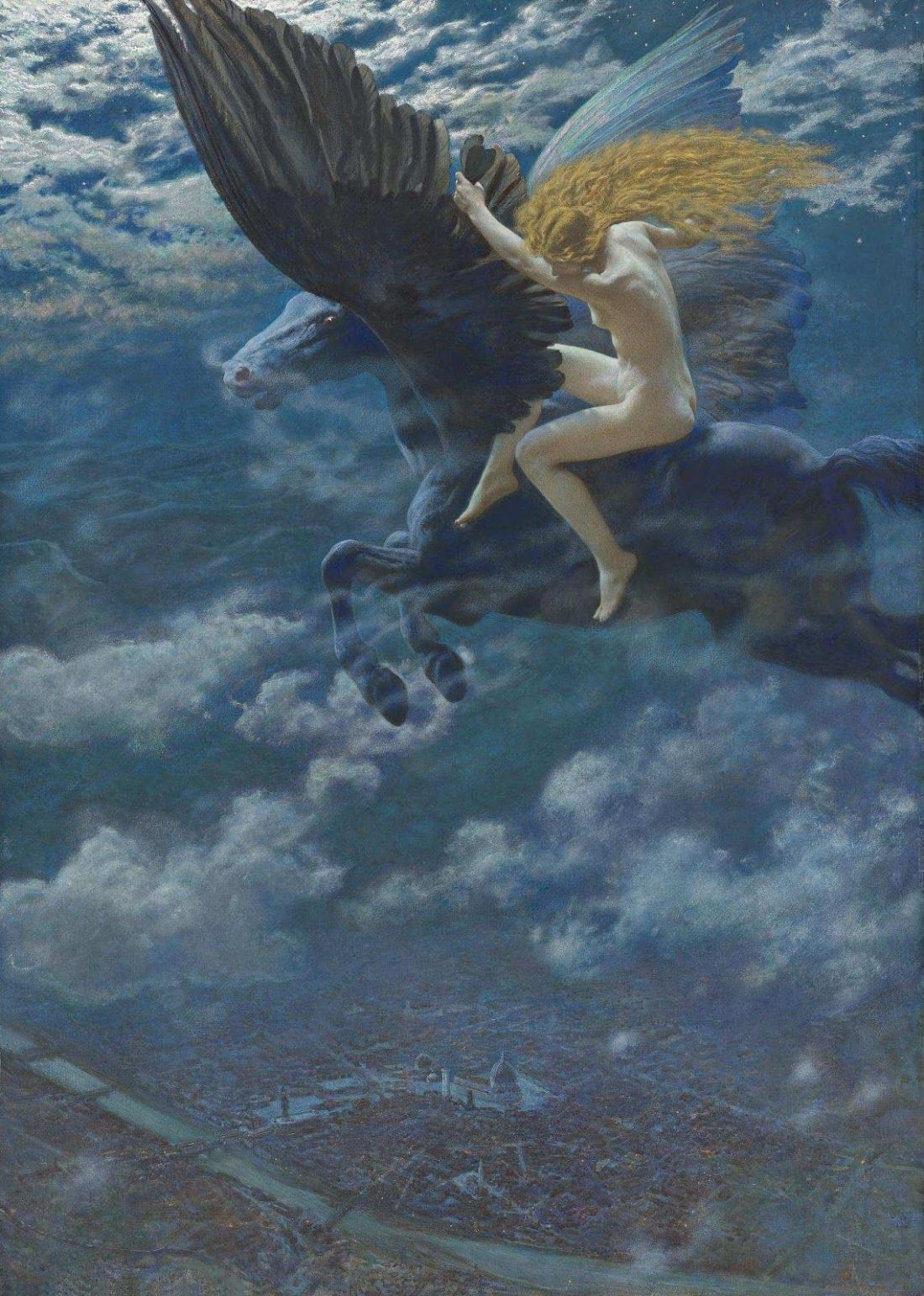 """Dream Idyll"" (""A Valkyrie""). Before 1902."