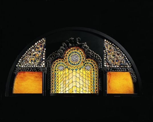 Lunette window. ca. 1890-1900.