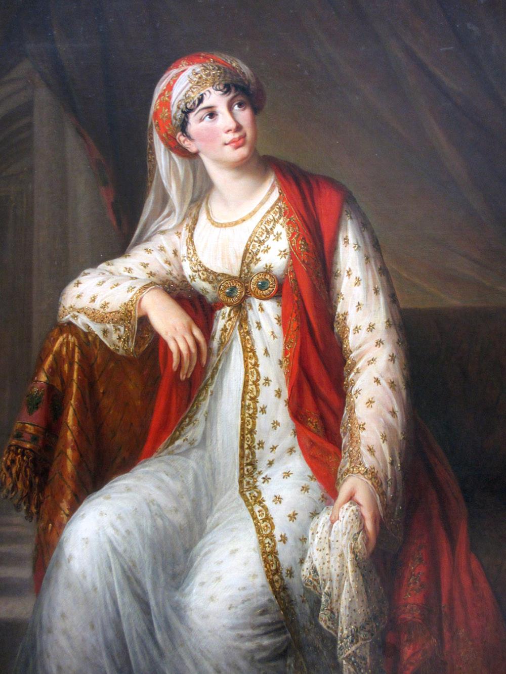 """Portrait of Giuseppina Grassini in the role of """"Zaïra"""". 1804."""