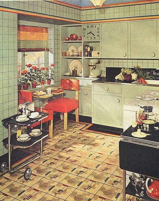 Kitchen. 1930's.