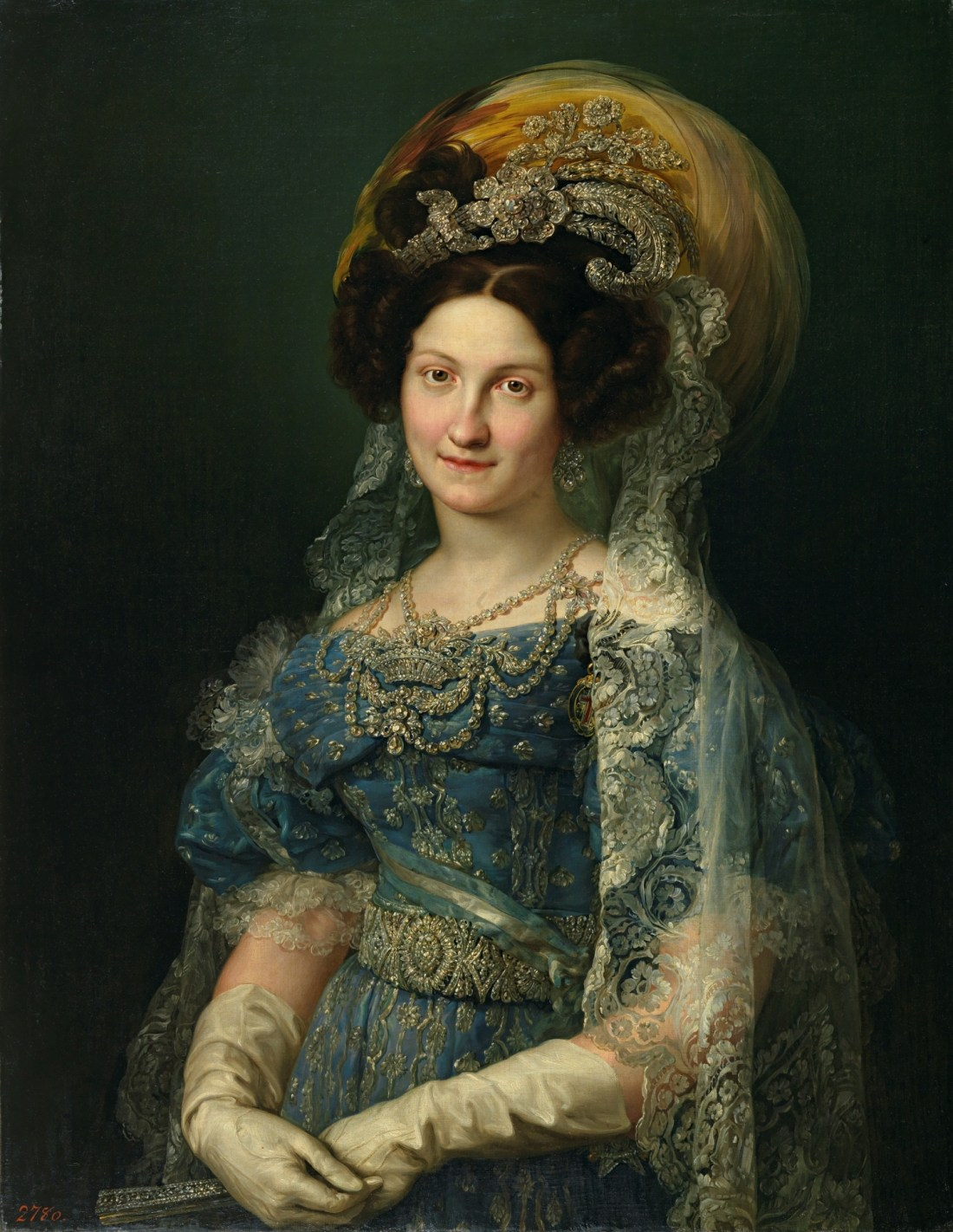 Maria Cristina de Bourbon-Sicily, Queen of Spain. 1830.
