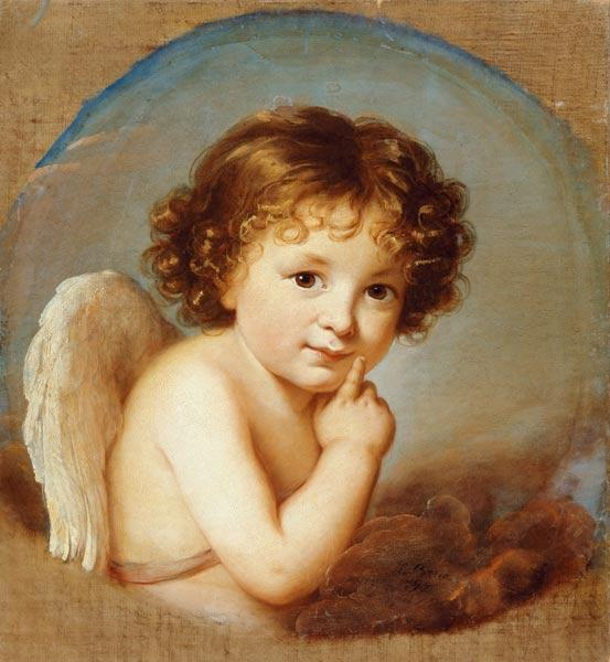 Prince Boris Nikolayevich Yusupov  as Cupid. ca. 1800.