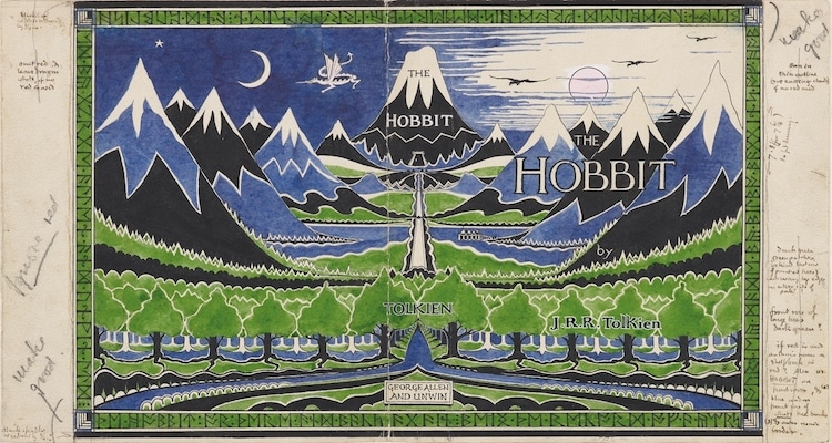 "Dust jacket for ""The Hobbit."""