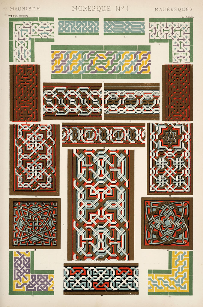 Moresque ornament from the Alhambra. Plate XXXIX