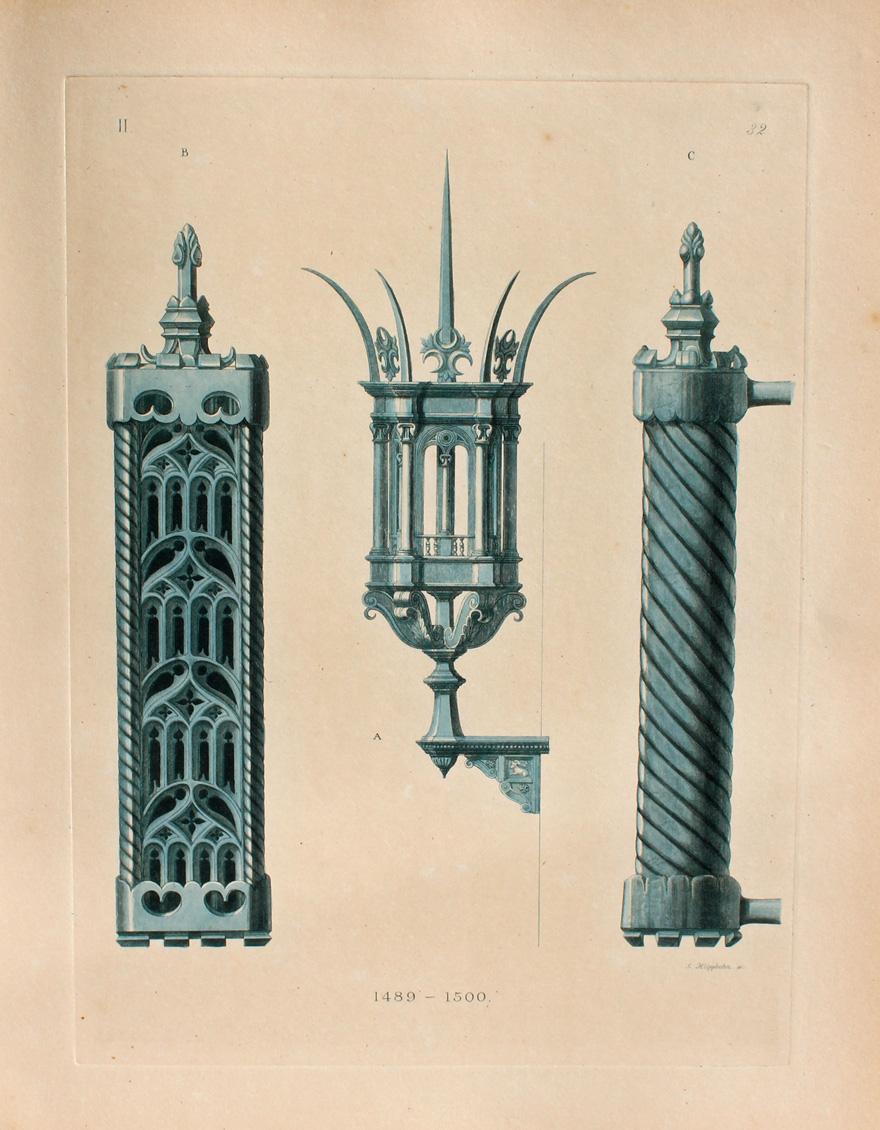 """Lantern and door handle made of iron."" 1489-1500."