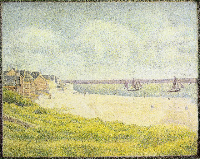 """""""View of Le Crotoy."""" 1889."""
