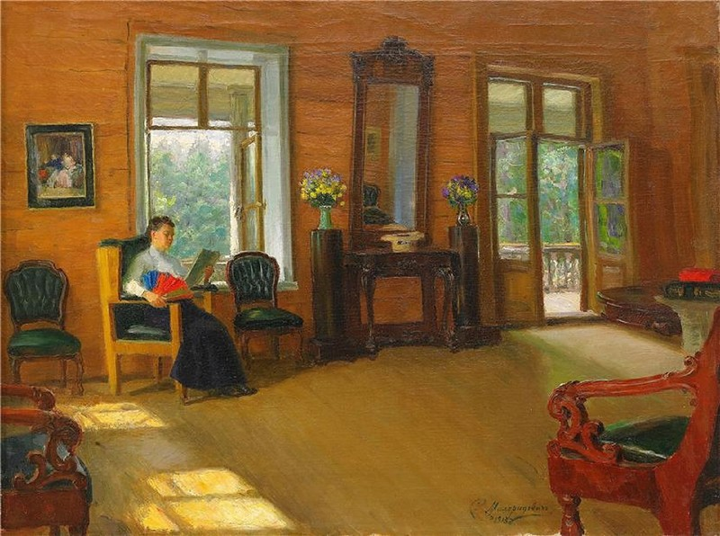 Lady reading. 1913.