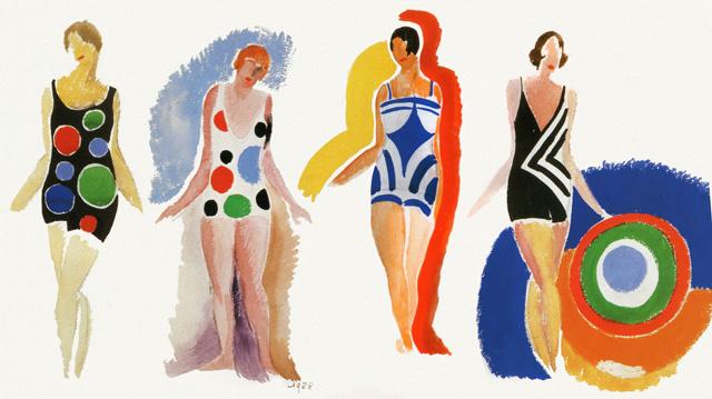 Swimsuit designs. 1928.