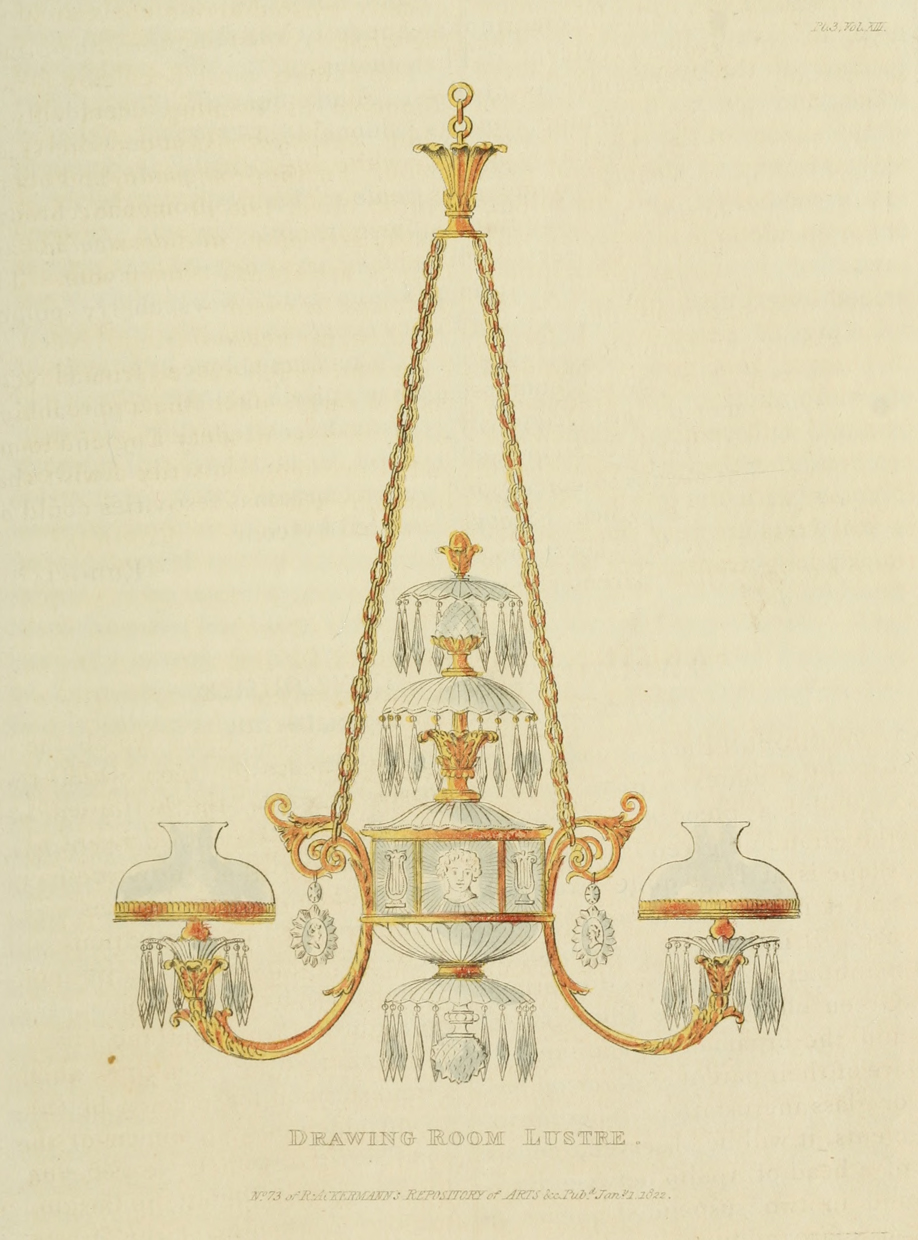 Dining room chandelier. Plate 3.